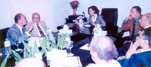 زيارة نادية مكرم عبيد